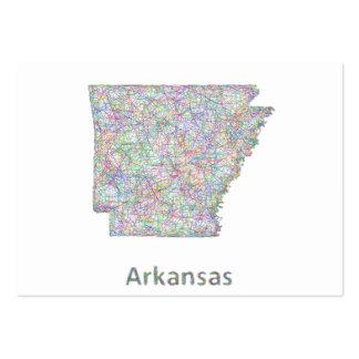 Mapa de Arkansas Tarjetas De Visita Grandes