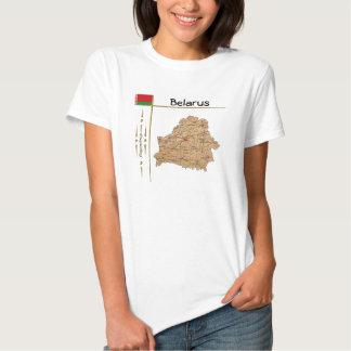 Mapa de Bielorrusia + Bandera + Camiseta del