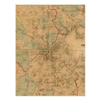 Mapa de Boston 2 Postal