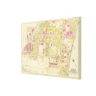 Mapa de Boston 6 Impresiones En Lona