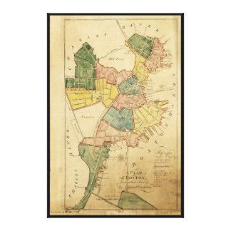 Mapa de Boston Massachusetts (1805) Impresión En Lienzo