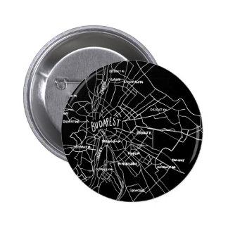 Mapa de Budapest Hungría Chapa Redonda De 5 Cm