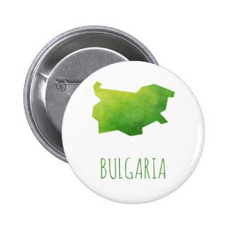 Mapa de Bulgaria Chapa Redonda De 5 Cm