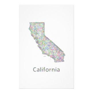 Mapa de California Folleto 14 X 21,6 Cm