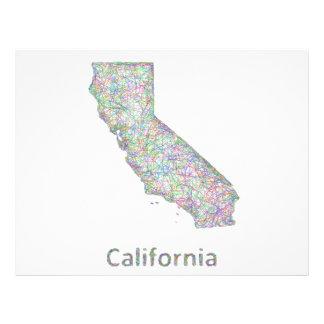 Mapa de California Folleto 21,6 X 28 Cm