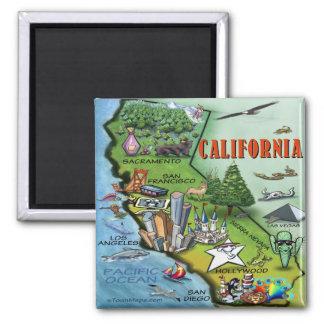 Mapa de California Imanes De Nevera