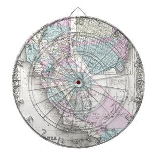 Mapa de California, José Hutchins Colton Tabla Dardos