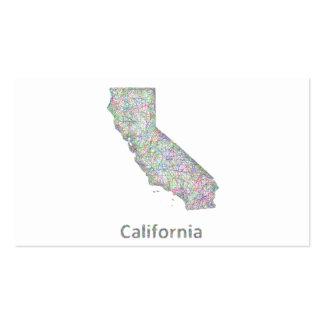 Mapa de California Tarjetas De Visita