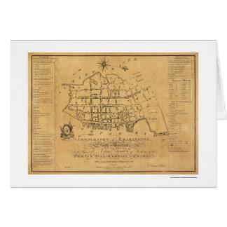 Mapa de calle del SC de Charleston 1788 Felicitacion