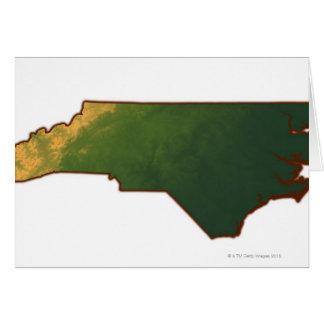 Mapa de Carolina del Norte 2 Tarjeta De Felicitación