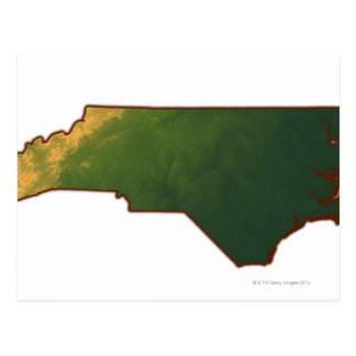 Mapa de Carolina del Norte 2 Postal