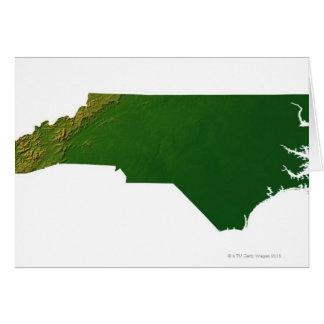 Mapa de Carolina del Norte Tarjeton