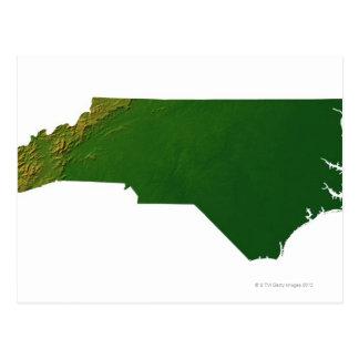 Mapa de Carolina del Norte Tarjetas Postales