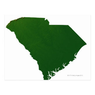 Mapa de Carolina del Sur Postal