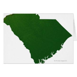 Mapa de Carolina del Sur Tarjeta De Felicitación