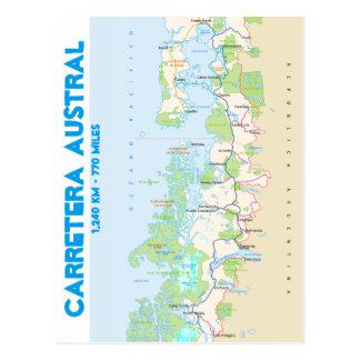 Mapa de Carretera austral Postal
