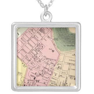 Mapa de Charleston, Virginia Occidental Collar Plateado