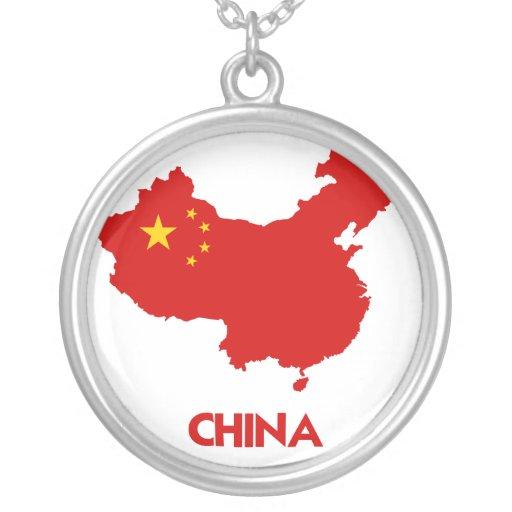 MAPA DE CHINA COLLAR PERSONALIZADO