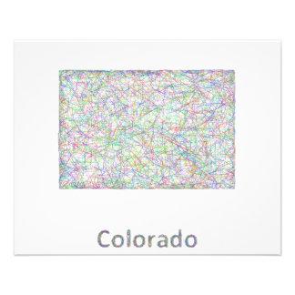 Mapa de Colorado Folleto 11,4 X 14,2 Cm