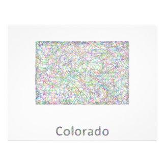 Mapa de Colorado Folleto 21,6 X 28 Cm