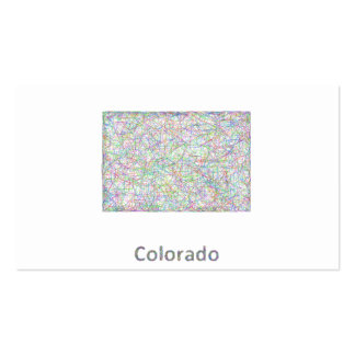 Mapa de Colorado Tarjetas De Visita