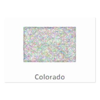 Mapa de Colorado Tarjetas De Visita Grandes