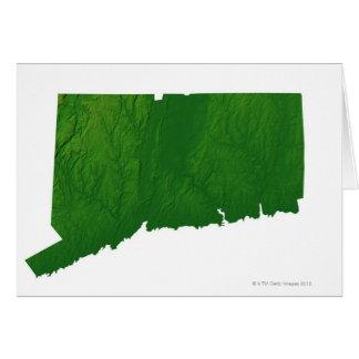 Mapa de Connecticut 2 Tarjeta De Felicitación