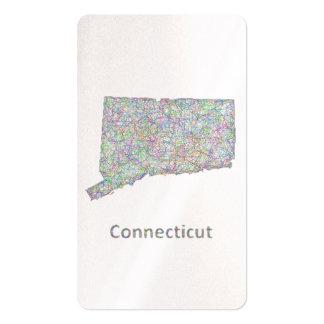 Mapa de Connecticut Tarjetas De Visita