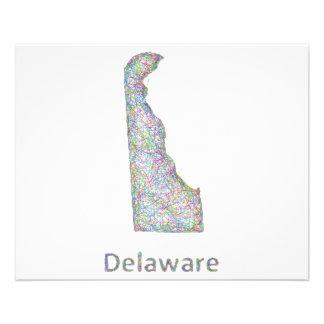 Mapa de Delaware Folleto 11,4 X 14,2 Cm
