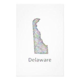 Mapa de Delaware Folleto 14 X 21,6 Cm
