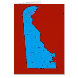 Mapa de Delaware Tarjeta