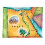 Mapa de Egipto Postales