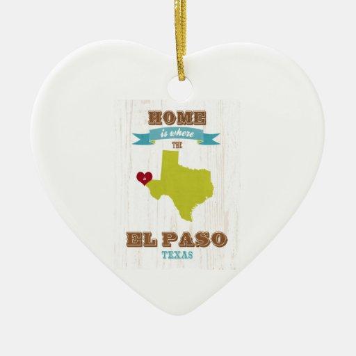 Mapa de El Paso, Tejas - casero es donde está el c Ornamentos De Reyes
