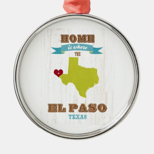 Mapa de El Paso, Tejas - casero es donde está el c Adorno