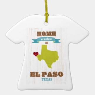 Mapa de El Paso, Tejas - casero es donde está el c Ornamento Para Arbol De Navidad