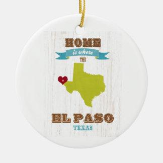 Mapa de El Paso, Tejas - casero es donde está el c Ornamento Para Reyes Magos