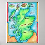 Mapa de Escocia Posters