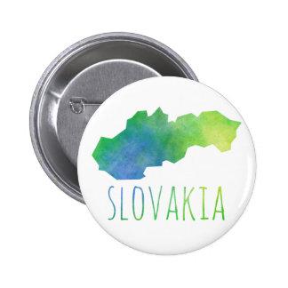 Mapa de Eslovaquia Chapa Redonda De 5 Cm