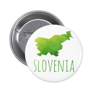 Mapa de Eslovenia Chapa Redonda De 5 Cm