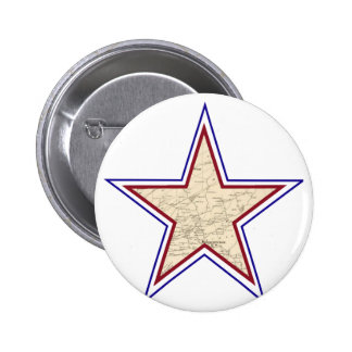 Mapa de estrella del estilo chapa redonda de 5 cm