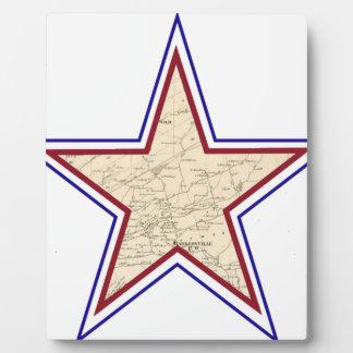 Mapa de estrella del estilo placa expositora
