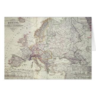 Mapa de Europa, 1841 Felicitación