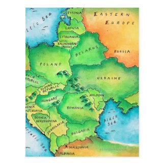 Mapa de Europa Oriental Postal