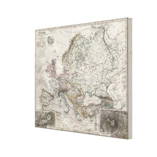 Mapa de Europa por Stieler Impresiones En Lienzo Estiradas
