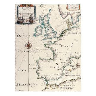 Mapa de Europa Postales