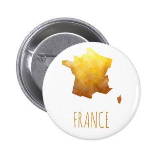 Mapa de Francia Chapa Redonda De 5 Cm