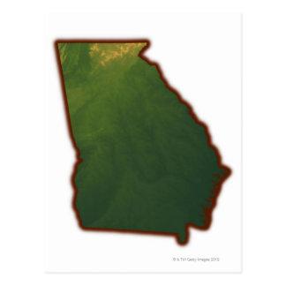 Mapa de Georgia 2 Tarjetas Postales