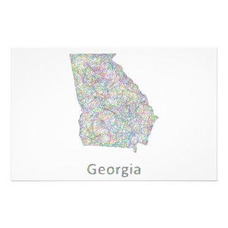 Mapa de Georgia Folleto 14 X 21,6 Cm