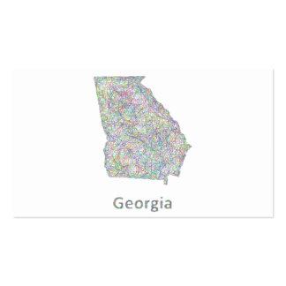 Mapa de Georgia Tarjetas De Visita
