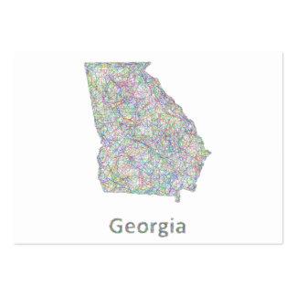 Mapa de Georgia Tarjetas De Visita Grandes